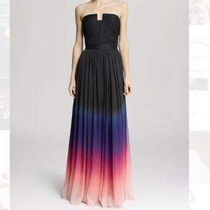 Halston Heritage - Ombré chiffon gown